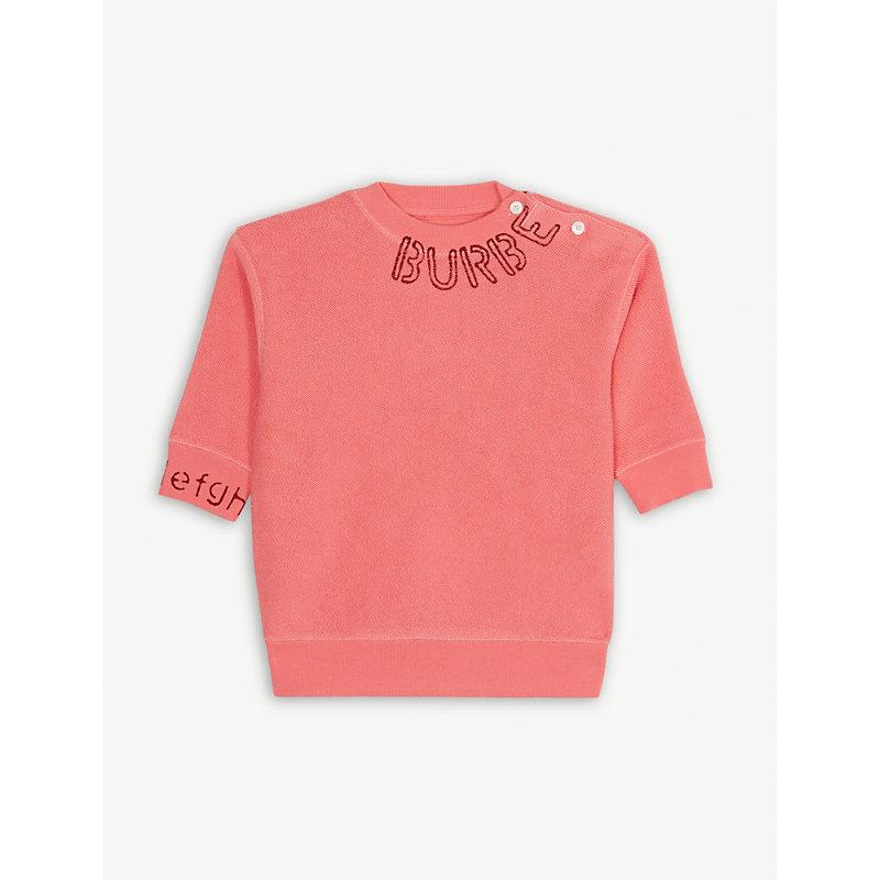 BURBERRY | Stencil Logo Cotton Jumper 6-24 Months | Goxip