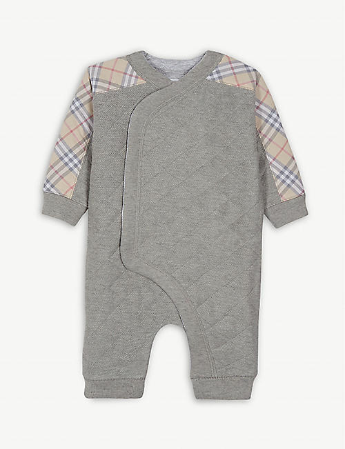 eba7b609400 BURBERRY Dalton stretch-cotton jersey pramsuit 3-18months