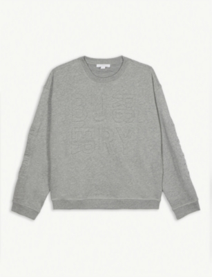 BURBERRY Hank embossed-logo sweatshirt 3-14years