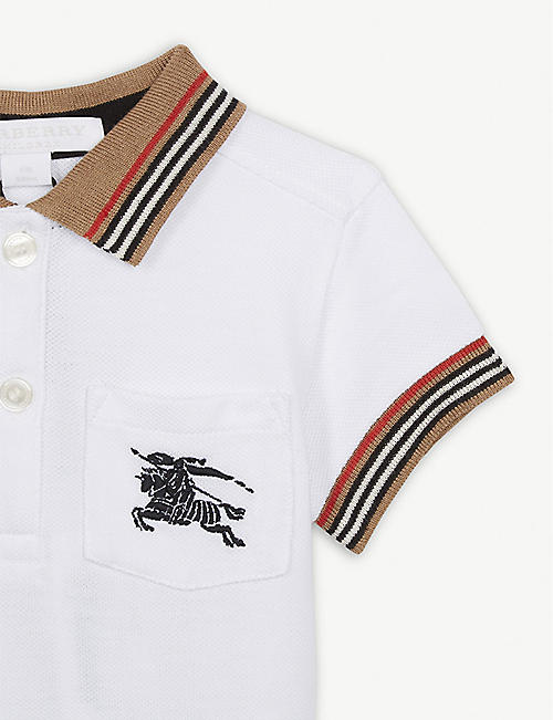 BURBERRY Logo pocket cotton polo shirt 6-24 months