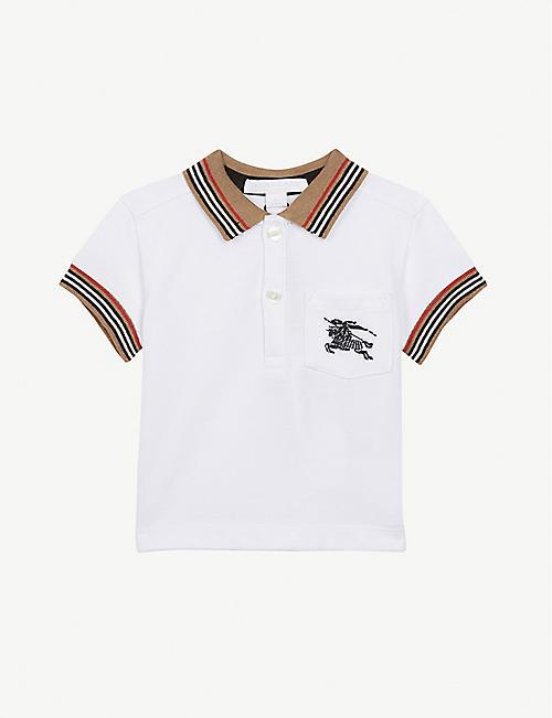 c45df0472f9 BURBERRY Logo pocket cotton polo shirt 6-24 months