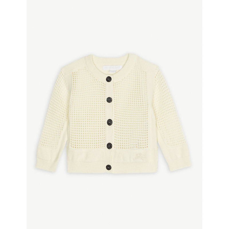 BURBERRY | Cath Open Knit Cardigan 6-24 Months | Goxip