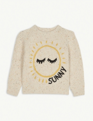 BURBERRY Sun and cloud print cashmere jumper 8-14 years