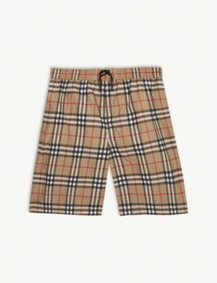 BURBERRY Check swim shorts 3-14 years