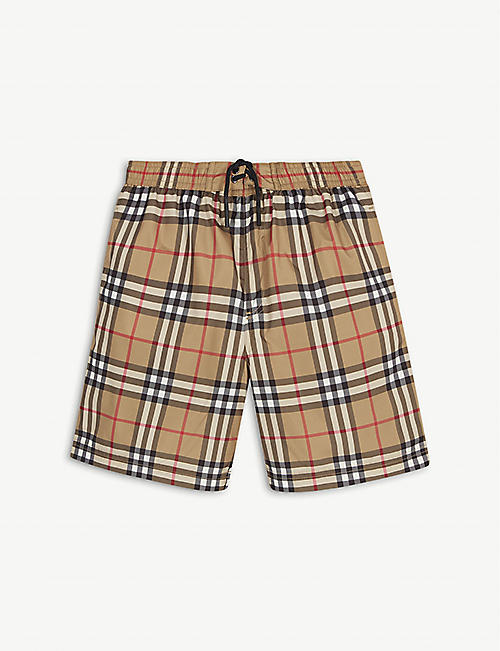 BURBERRY: House Check swimshorts 3-14 years