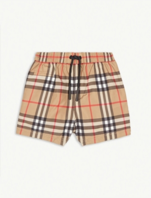 BURBERRY Vintage Check swim shorts 6-24months