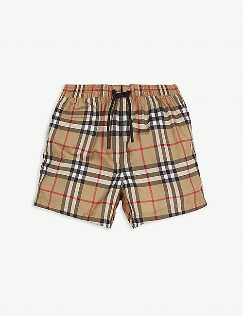 BURBERRY: House Check swimshorts 6-24 months