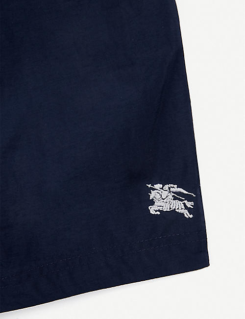 BURBERRY Equestrian Knight-embroidered swim shorts 6-24 months