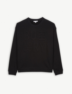 BURBERRY 3D logo cotton jumper 3-14 years