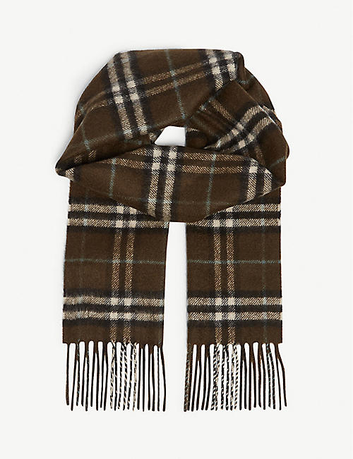 BURBERRY Vintage check cashmere scarf 73207171508