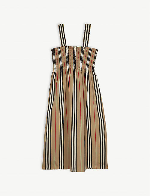 BURBERRY Junia Icon stripe cotton smock dress 3-14 years 43f69af2e82
