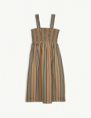 726bf561cc6fc BURBERRY - Junia Icon stripe cotton smock dress 3-14 years | Selfridges.com