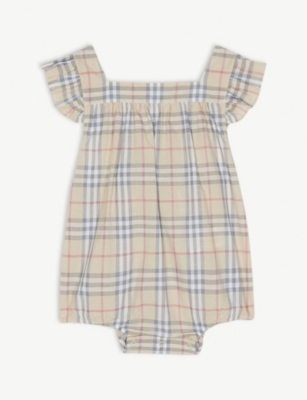 BURBERRY Vintage check romper 3-18 months