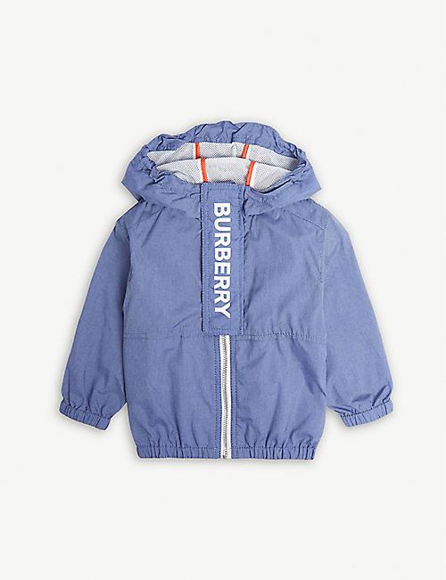 e88052ac7bbd BURBERRY Austin logo nylon-blend jacket 6-24 months