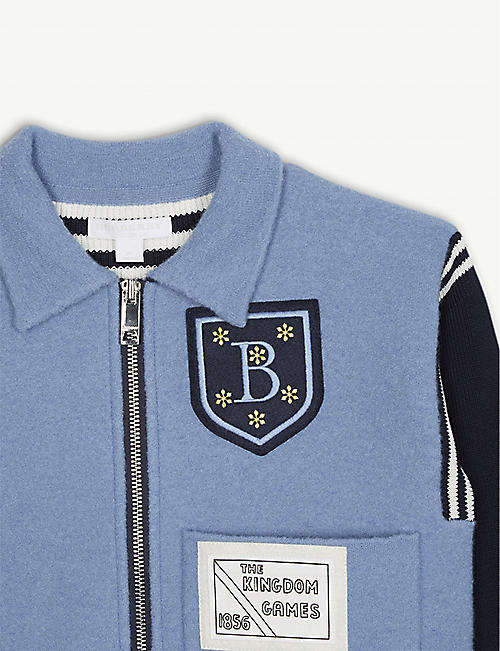 BURBERRY Willson patch wool bomber jacket 3-14 years