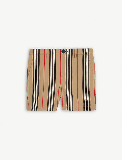 9c1c51116cec2 BURBERRY Striped cotton shorts 3-14 years