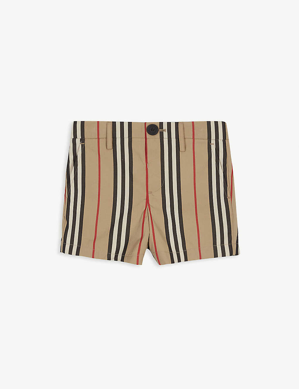BURBERRY: Striped cotton shorts 3-14 years