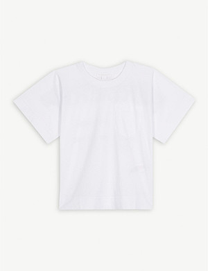 46fdd62b0387 BURBERRY · Branded tape cotton T-shirt 3-14 years