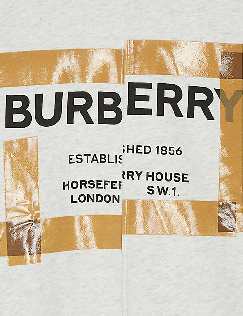 BURBERRY Horseferry logo cotton jumper 3-14 years