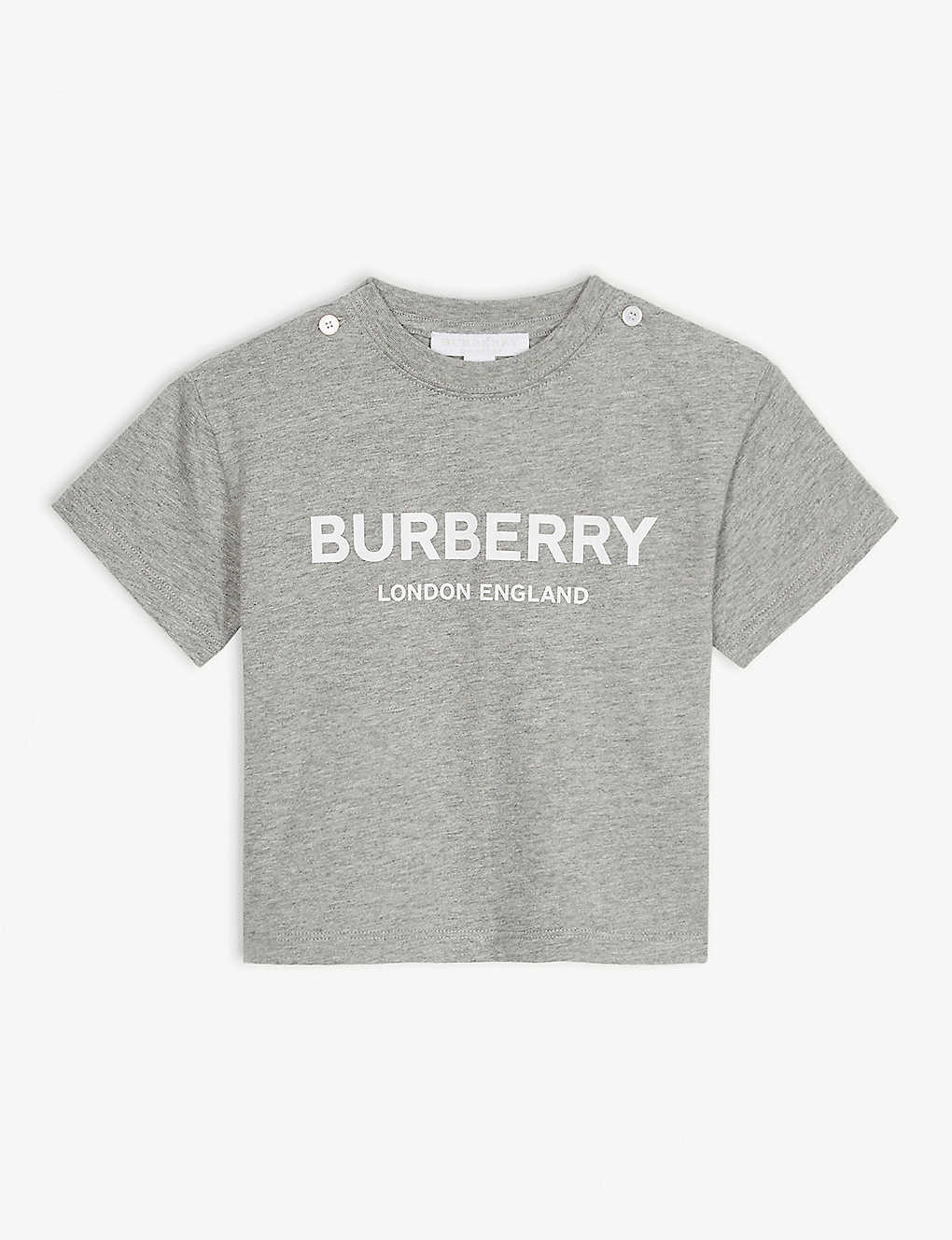 BURBERRY: Robbie branded cotton T-shirt 6-24 months