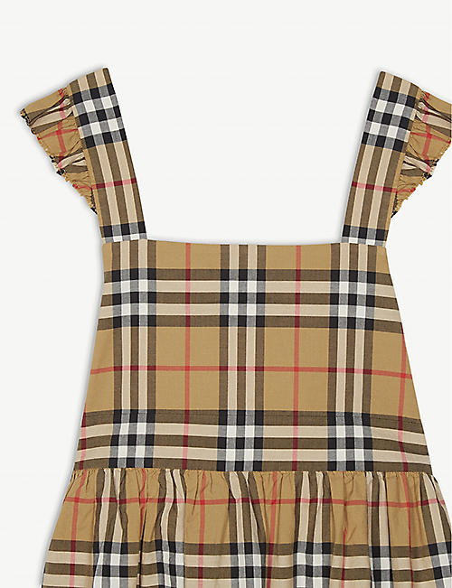 BURBERRY Livia Vintage check pinafore cotton dress 3-14 years
