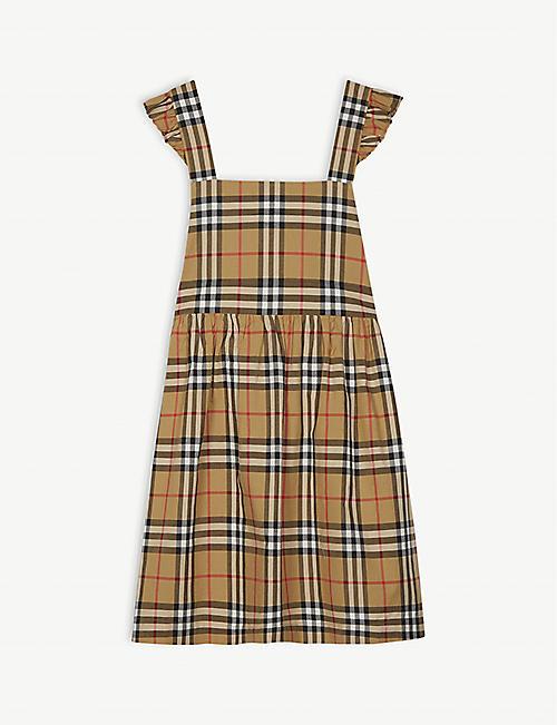 cf17444e78db BURBERRY Livia Vintage check pinafore cotton dress 3-14 years