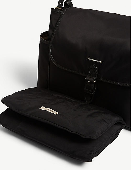 BURBERRY Check lining changing bag