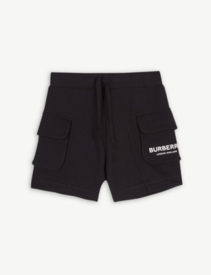 BURBERRY Cargo pocket cotton shorts 4-14 years