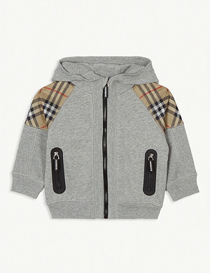 BURBERRY Hamilton check hoody 12 months-2 years