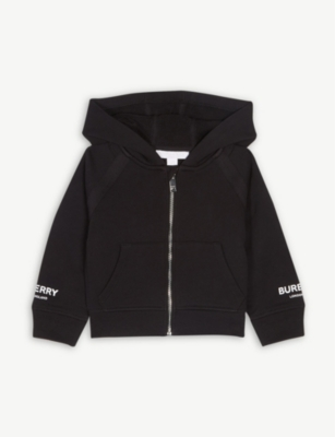 BURBERRY Logo cotton hoody 0-12 months
