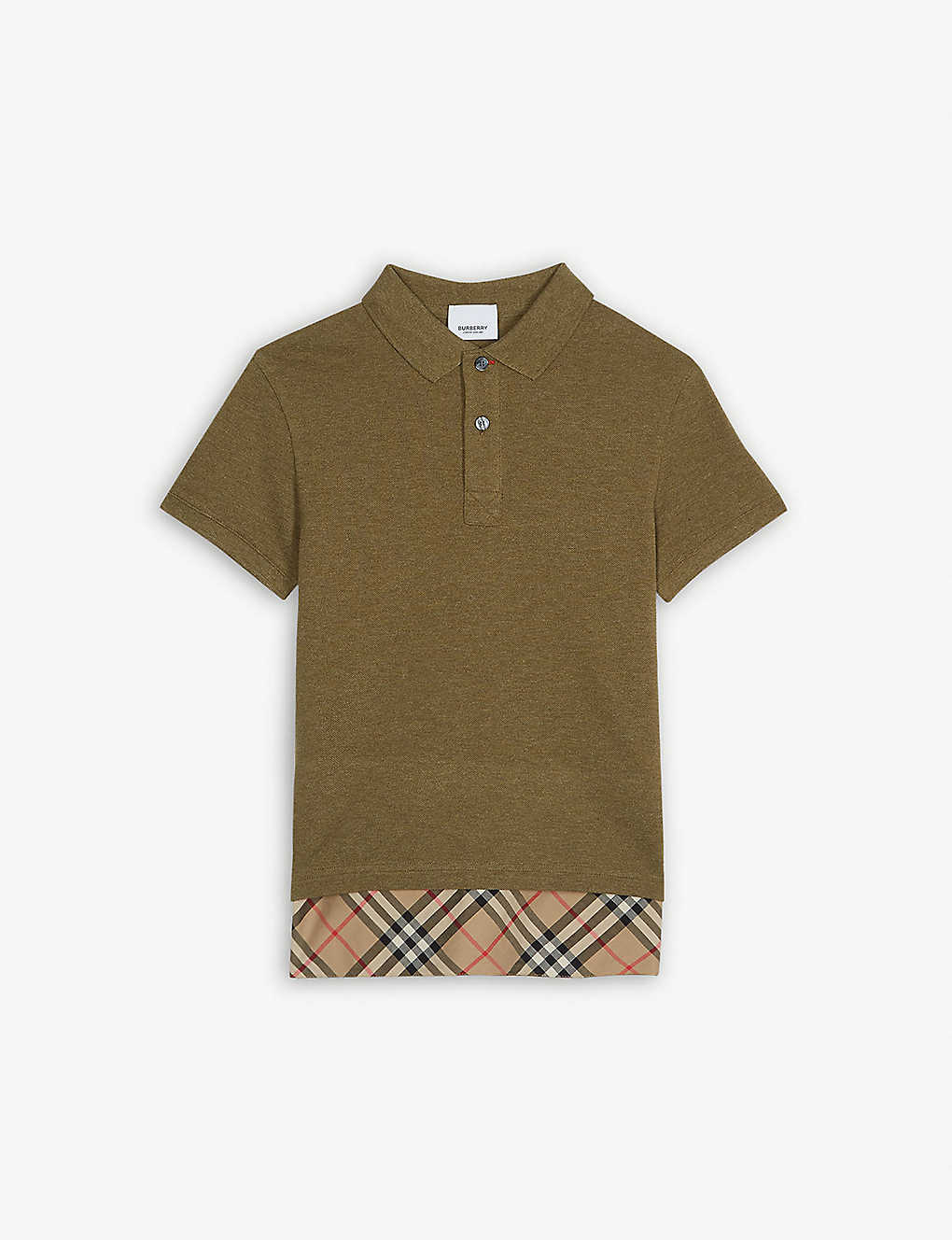 b20aa55906 Long hem cotton polo shirt 3-14 years