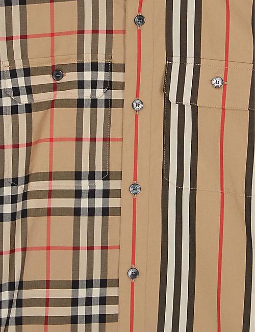 04256d11ea BURBERRY Amir cotton long sleeve shirt 4-14 years · Quick Shop