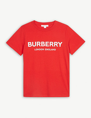 BURBERRY Branded cotton T-shirt 3-14 years