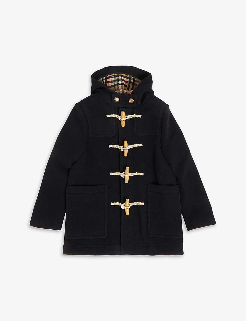 362f50458 BURBERRY - Hooded wool duffle coat 3-14 years | Selfridges.com