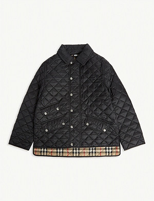 BURBERRY Brennan diamond quilted jacket 3-14 years