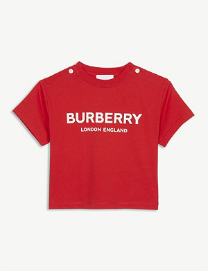 BURBERRY Branded cotton T-shirt 6-24 years