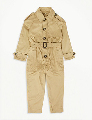 BURBERRY Trench coat cotton jumpsuit
