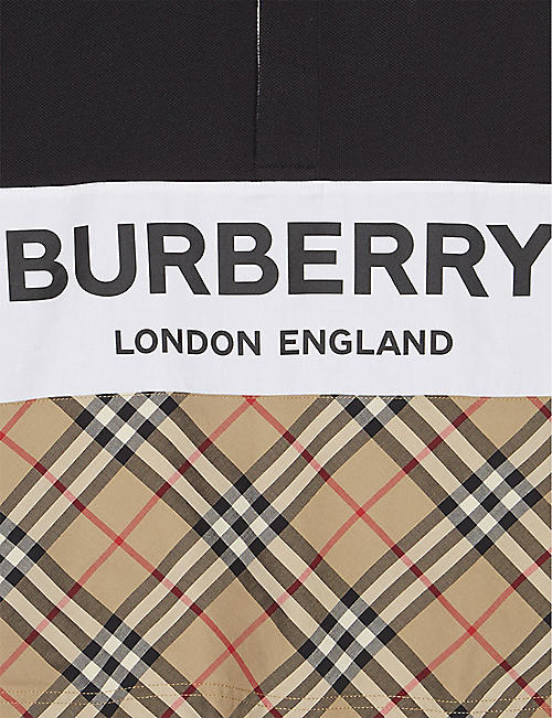 8a3a0ab4 BURBERRY Check panel long sleeve polo shirt 3-14 years · Quick Shop
