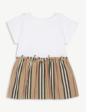 BURBERRY Rhonda archive striped cotton dress 6 months - 2 years