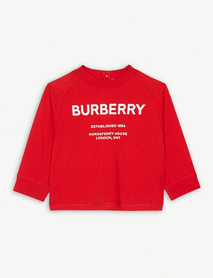 BURBERRY Horseferry logo cotton long-sleeve T-shirt 6-24 months