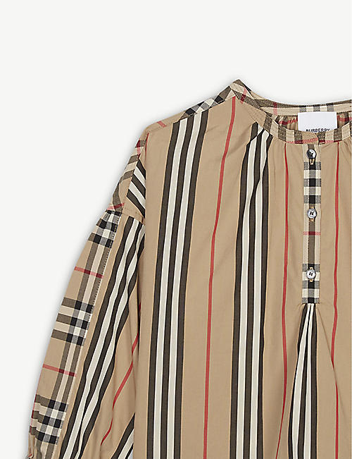 BURBERRY Check print cotton blouse 3-14 years
