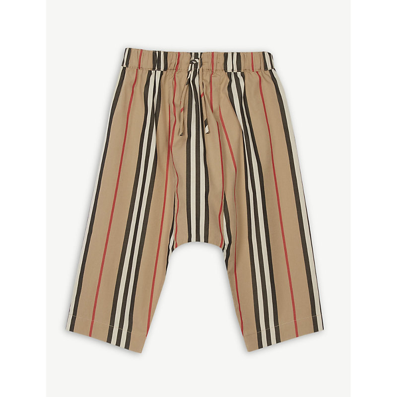 BURBERRY | Icon Stripe Trousers 1-18 Months | Goxip