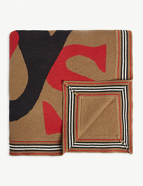 BURBERRY Icon wool and cashmere blend blanket
