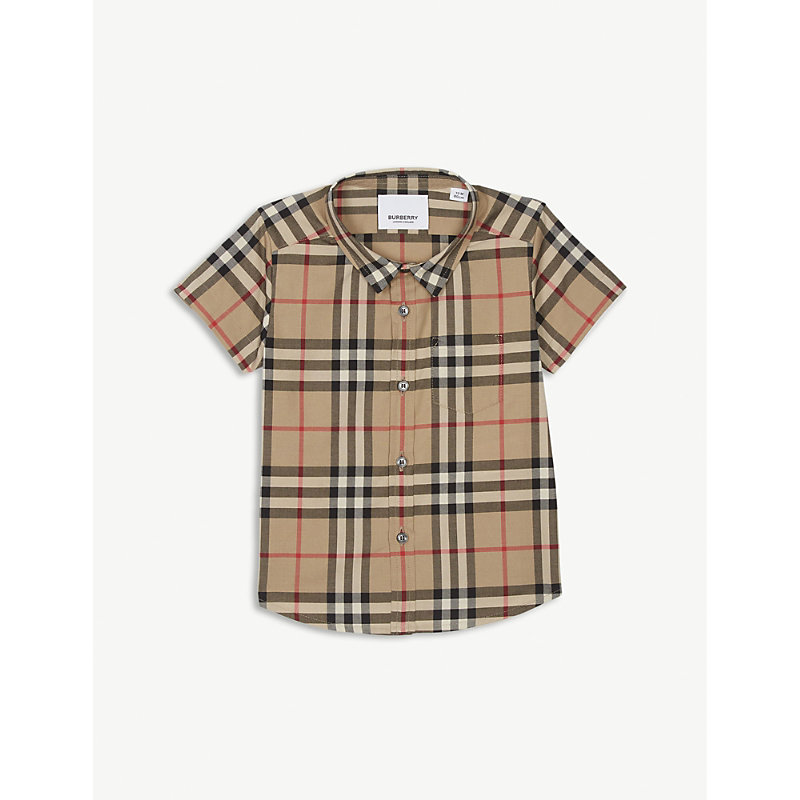 BURBERRY | Fred Checked Cotton Shirt 1-12 Months | Goxip