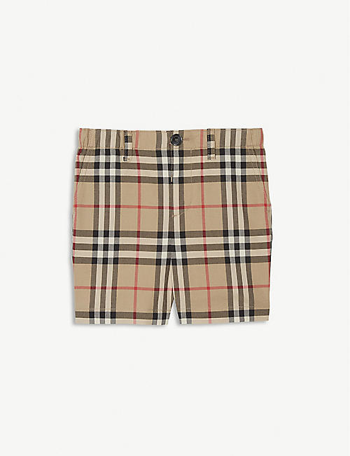 BURBERRY Check print shorts 6-24 months