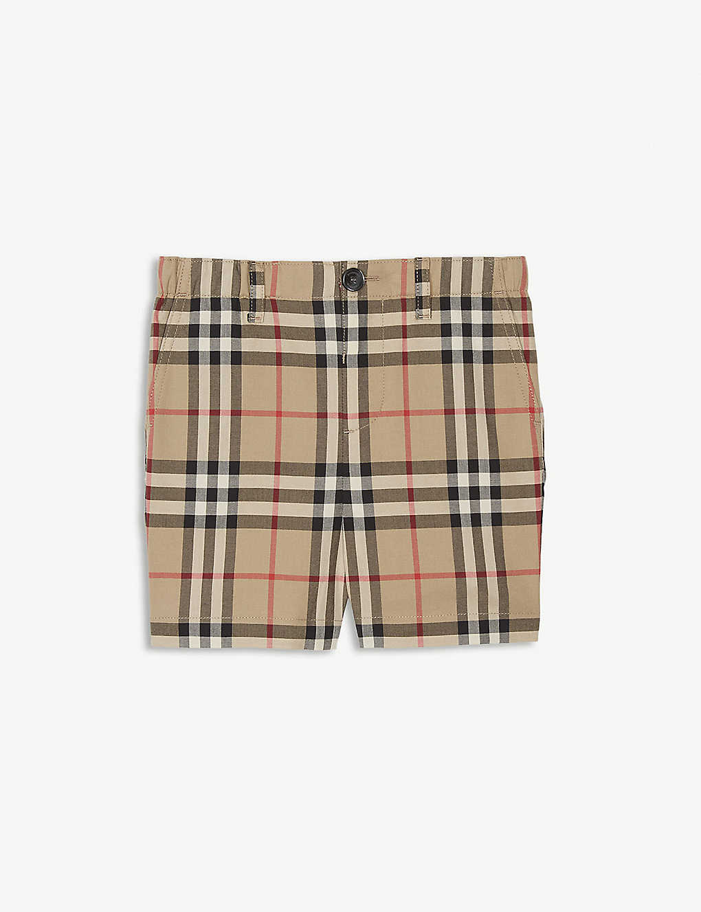 BURBERRY: Check print shorts 6-24 months