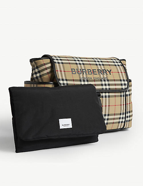 BURBERRY Heritage check changing bag