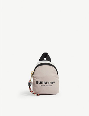 BURBERRY Mini backpack bag charm