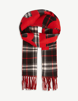 BURBERRY Vintage check wool scarf