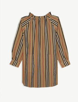 BURBERRY Melodie striped cotton shirt dress 3-14 years